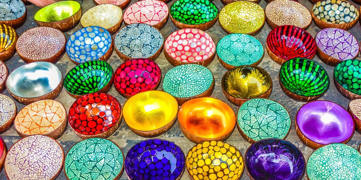 souvenir coloured bowls