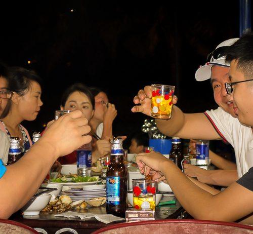 Mot Hai Ba at A Roi Seafood Restaurant Hoi An