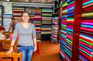 Be Be Cloth Shop, Hoi An, material range