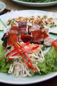 Market Cooking School and Restaurant. pork, Hoi An