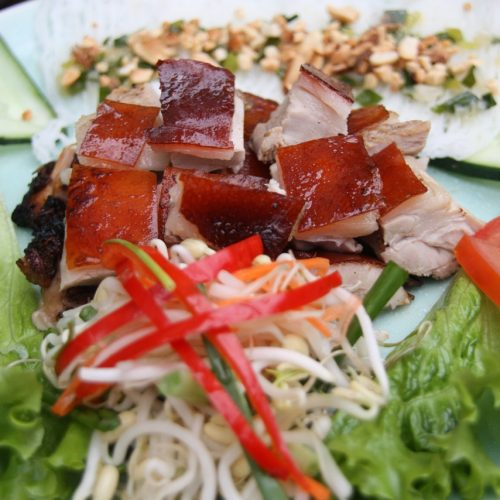 Vy's Market Restaurant and Cooking School. pork, Hoi An