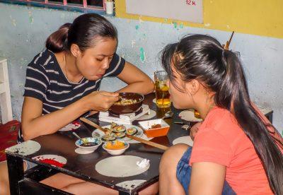 Banh Trang Tron diners. Korean Restaurant, Hoi An