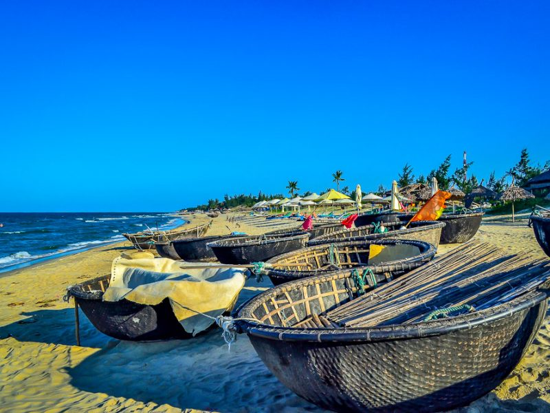 Hoi An's Hidden Beach. Basket Boats (2)