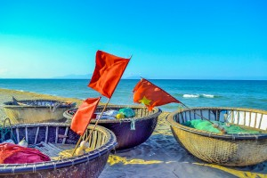Hoi An's Hidden Beach.Basket Boats (2) (1 of 1)