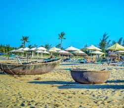 Hoi An's Hidden Beach, Basket Boats (1)