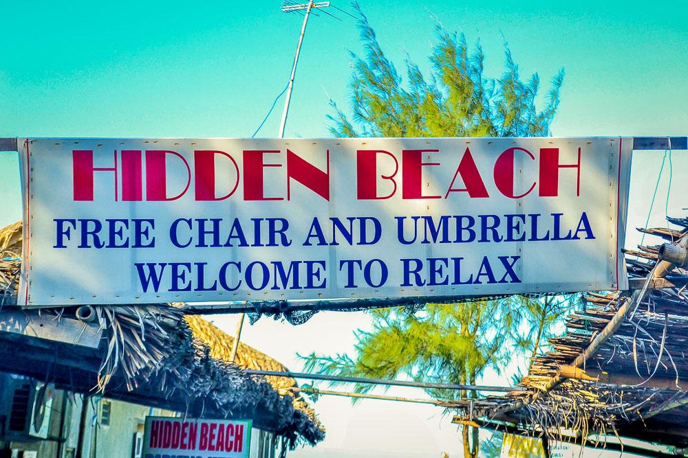 Hoi An's Hidden Beach sign (2)