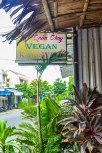 Karma Waters Hoi An vegetarian restaurant. external sign 2
