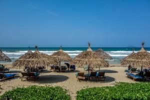 La Plage thatched umbrellas 2, An Bang Beach, Hoi An