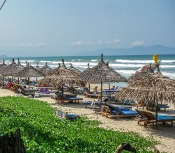 La Plage, thatched umbrellas 3, An Bang Beach, Hoi An