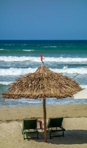 La Plage, thatched umbrellas 6, An Bang Beach, Hoi An