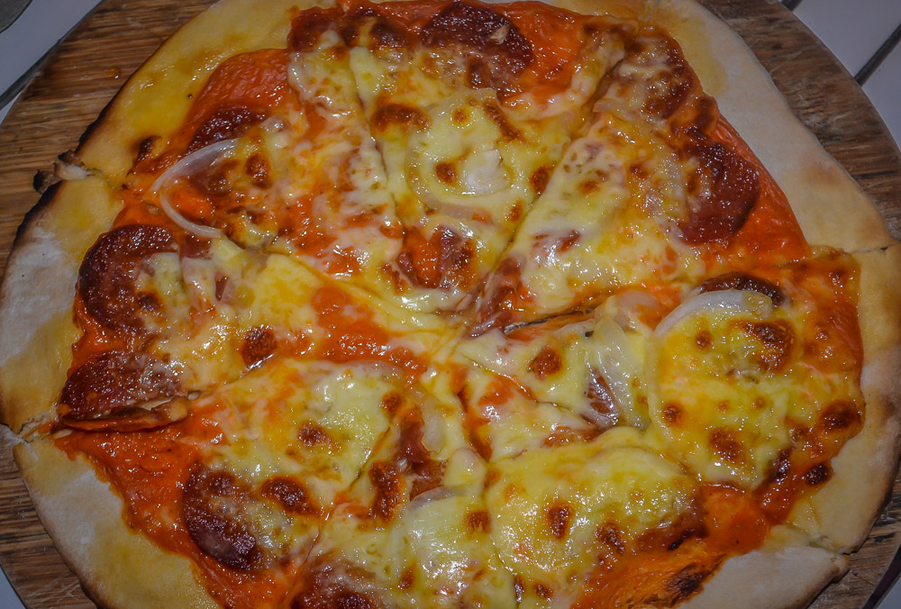 Pepperoni Pizza, Driftwood Cafe, An Bang Beach, Hoi An