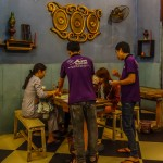 Staff and customers, Am Vegetarian restaurant, Hoi An