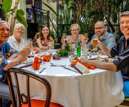 expat table, christmas, hoi an, victoria hotel