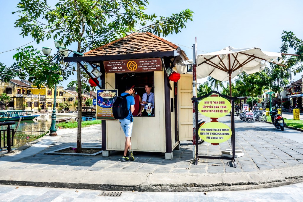 Heritage sights, Ticket Booth, Hoi An Old Town, Lantern bridge, vietnam