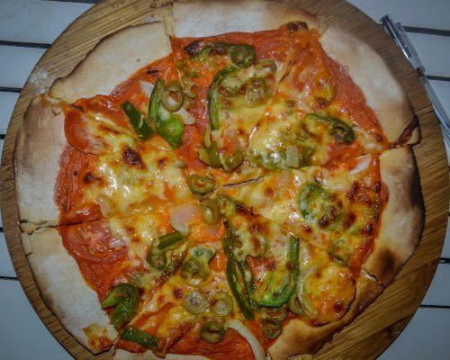 Vegetarian Pizza, Driftwood Cafe, An Bang Beach, Hoi An