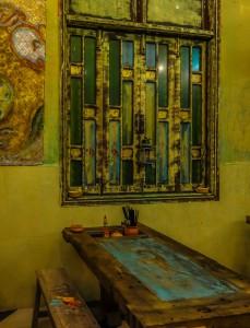 Wall feature 2, Am Vegetarian restaurant, Hoi An