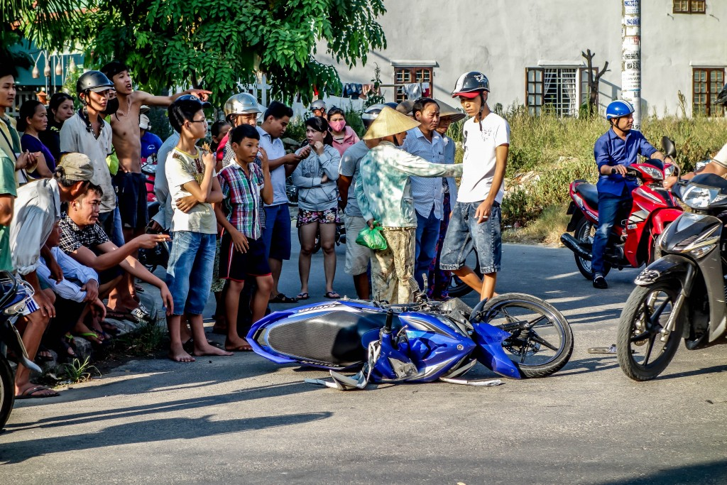 motorbike accident, hoi an, vietnam, safety, roads, accidents, insurance