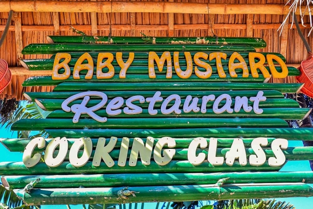 Baby Mustard, sign, Hoi An restaurant