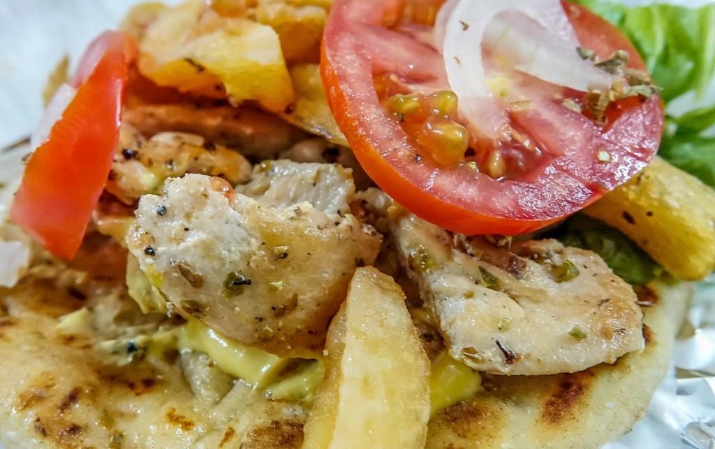 Greek Souvlaki. Hoi An restaurant. chicken souvlaki. An Bang Beach