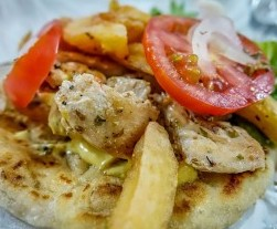Greek Souvlaki. Hoi An restaurant. chicken souvlaki 2