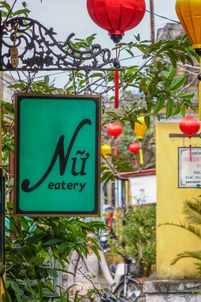Nu Eatery, Hoi An, sign