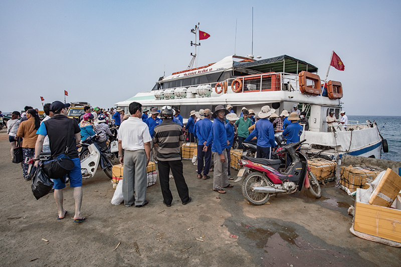 Ly Son, Vietnam. Boarding the ferry.