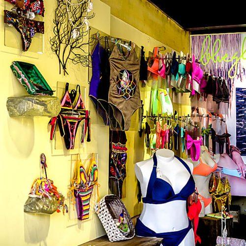 blue glue swimwear, bikinis, swimming costumes, jewelry, sandals, one piece bathing costumes, casual wear , Hoi an, vietnam