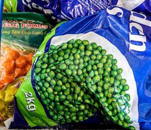 Nga Hang Convenience Store, Hoi An, Vietnam frozen food and peas
