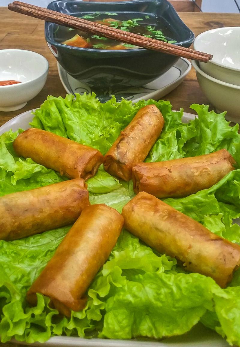Annen Vegetarian Restaurant, Hoi An, spring rolls_opt