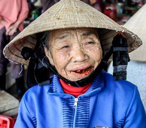 Market seller at Central Market, Hoi An