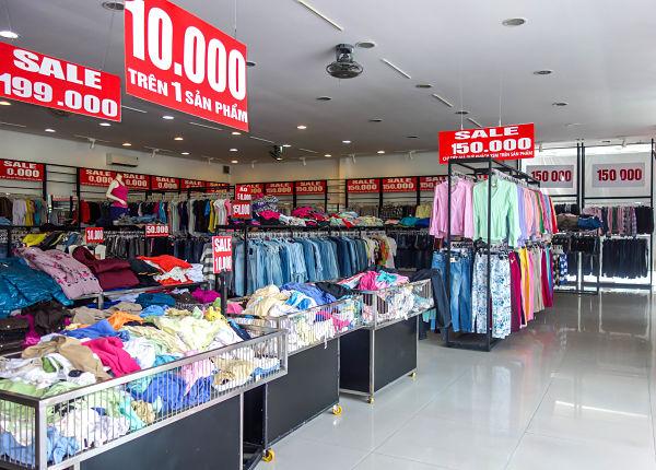 Cheap clothes, Da Nang, Vietnam