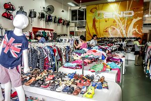 cheap clothes and shoe shop