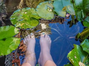 Feet in the water, U cafe, Hoi An