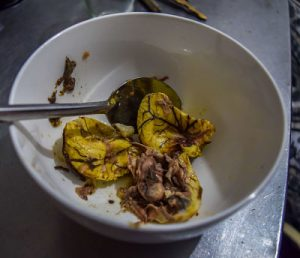 Balut in a bowl before eating