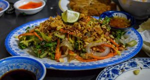 Jellyfish salad served in Hoi An, Vietnam