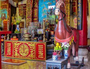 Quan Cong Temple Red Horse