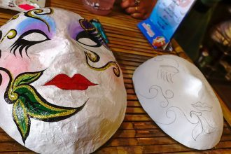 kids activities Hoi An, things to do in Hoi An, souvenirs, Hoi An souvenirs, activities Hoi An, kids activities Hoi An, The Timing Masks Workshop Hoi An Vietnam,