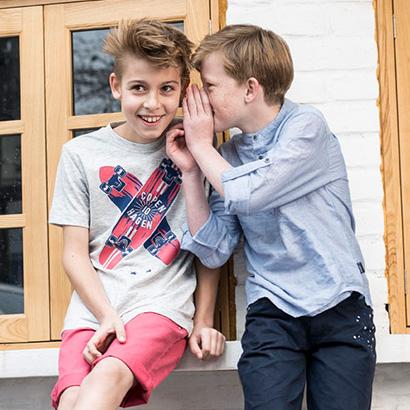 Copenhagen Delights Promotion. Kids whispering