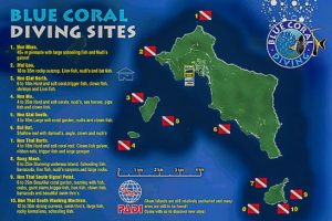 Hoi An Diving Center. Diving site map