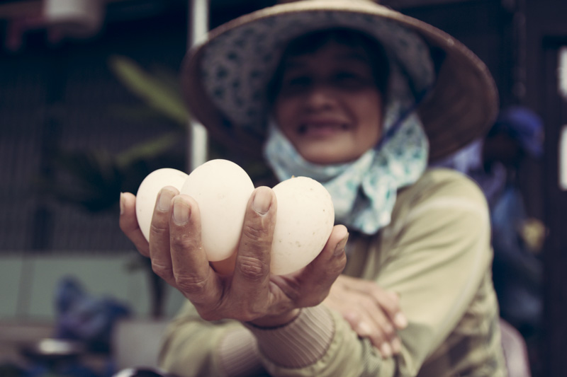Hoi An Central Market Egg Lady