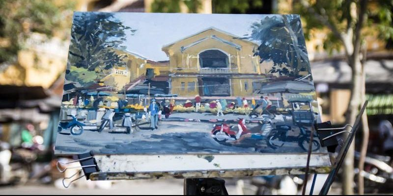 Hoi An Central Market Painting, Hoi An Now Travel Guide to Old Town