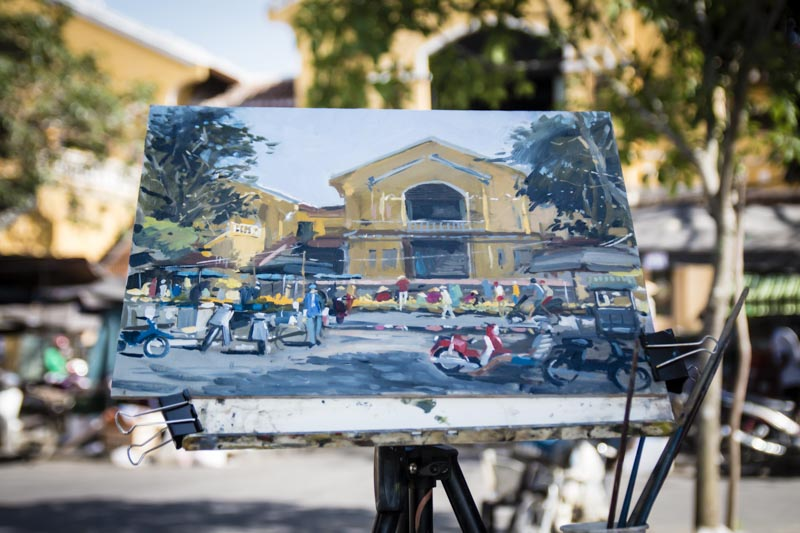 Hoi An Central Market Painting