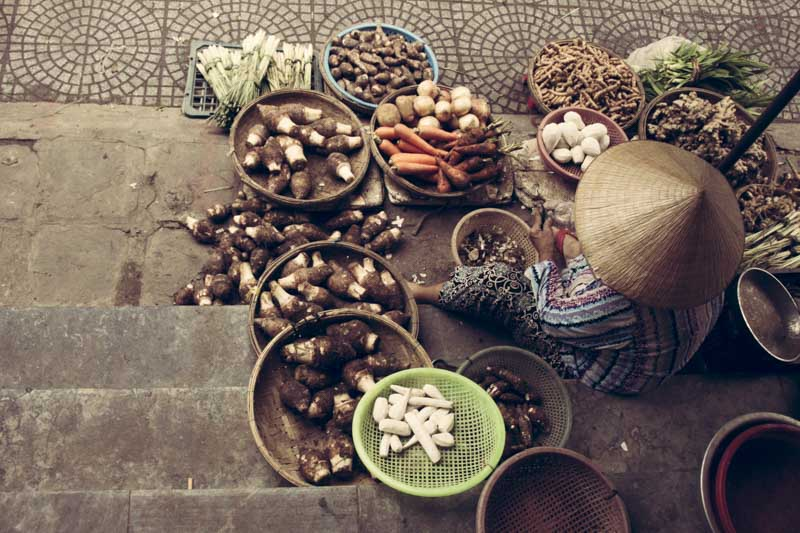 Noi Rang Market. Secret Market Veggies