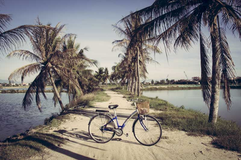 Cycling to An Bang Beach