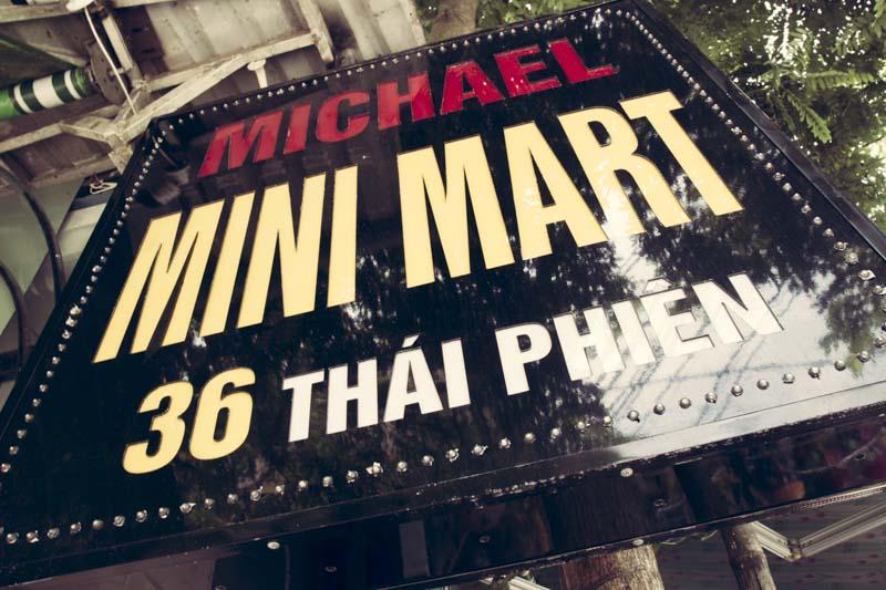 Convenience Stores Michael Mini Mart Sign