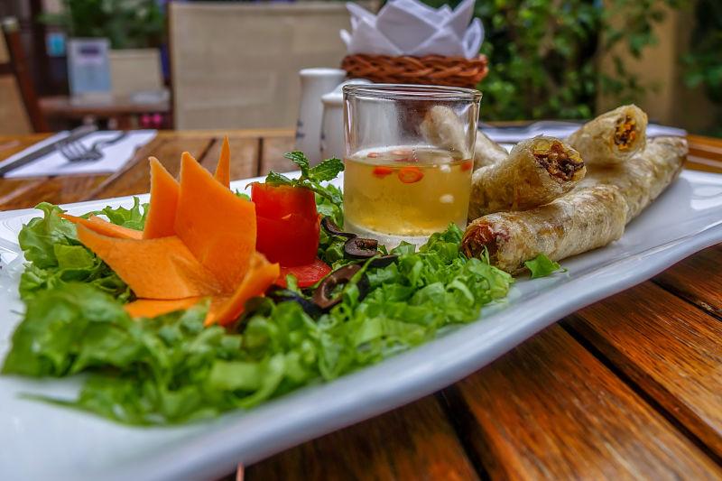 Belleville Restaurant & Lounge. Spring rolls