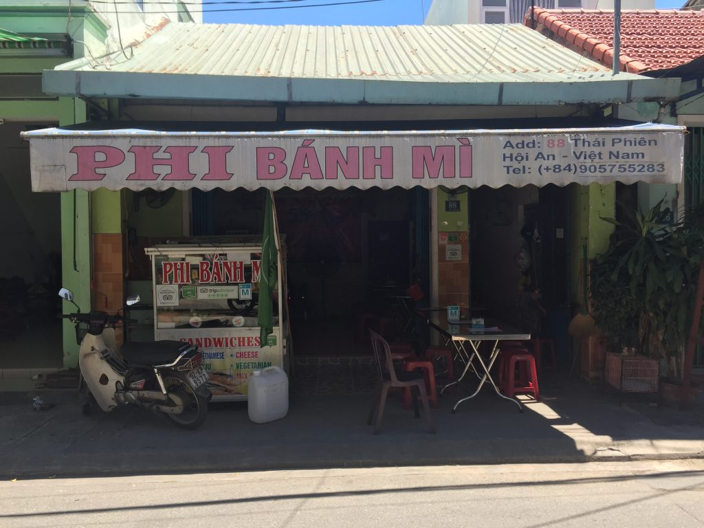 Breakfasts in Hoi An. Phi Bahn Mi Exterior Quick Guide to Breakfast
