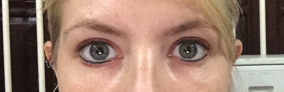 Lucy after 24 hours Semi-Permanent Make-Up
