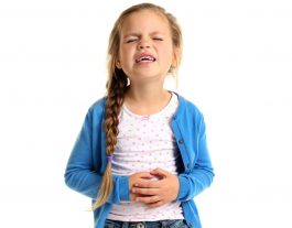 Diarrhea in Children. Family Medical Practice. Child with stomach ache