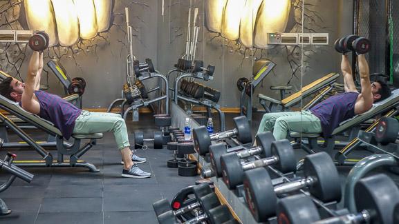 Superfit Gym An. weights mirrored 2
